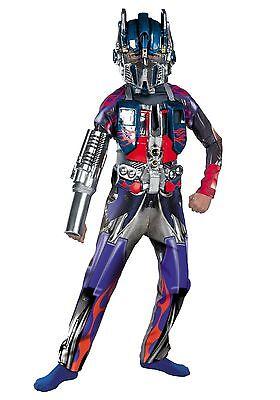Transformers DELUXE Optimus Prime Size 7-8 Medium Child  Costume New 2007