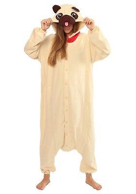 Pugs Wearing Halloween Costumes (Halloween Pug Dog Onesiee Kigurumi Fancy Dress Costume Pyjama Sleep wear)