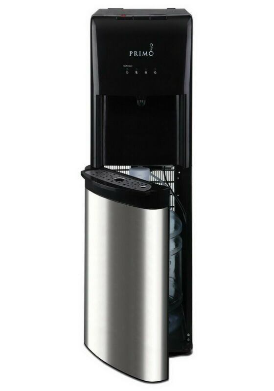 Hot Cold Water Dispenser Black 5 Gallon Capacity Bottom Loading Tank Stainless