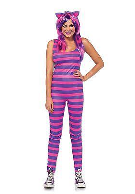 Darl Cheshire Cat Katze Alice Grinsekatze Damen Kostüm XS-M (Damen Cheshire Cat Kostüm)