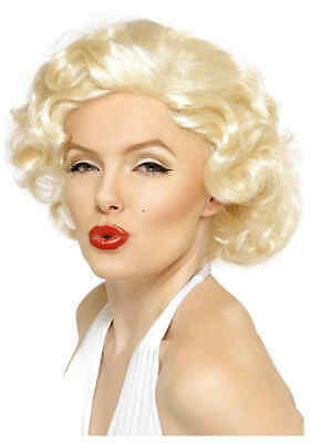 Marilyn Monroe Monrow Munrow Blonde Wavy Wig 40s 50s 60s Madonna Costume Party](Marilyn Monroe Costume Wig)