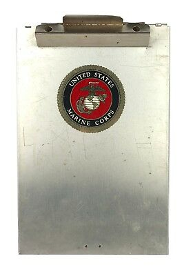 Saunders Aluminum Clipboard W Latch Model Rr8512 Usmc Marine Corps Sticker