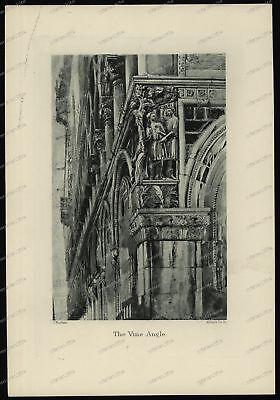Druck-Stahlstich-Engraving-John-Ruskin-Allen&Co.Sc-The Vine Angle-83