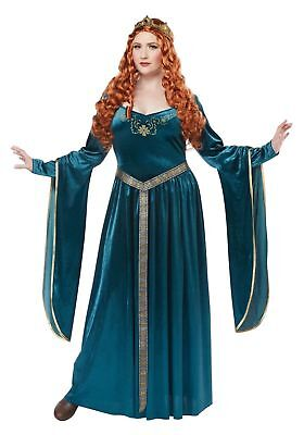 Womens LADY GUINEVERE Renaissance Queen 3pc Halloween PLUS Costume Set](Lady Guinevere Halloween Costumes)