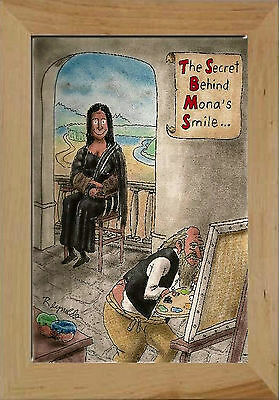 - Magnet HUMOR Cartoon Mona Lisa Paint Painting Smile Da Vinci Free Shipping