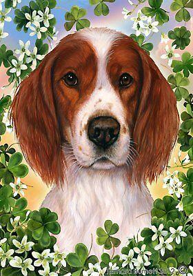 Best of Breed Garden Flag IRISH RED & WHITE SETTER St Patric