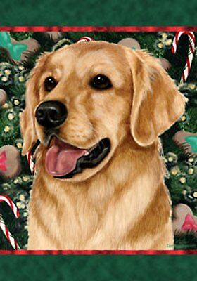 Best of Breed Garden Flag GOLDEN RETRIEVER Christmas by Tama