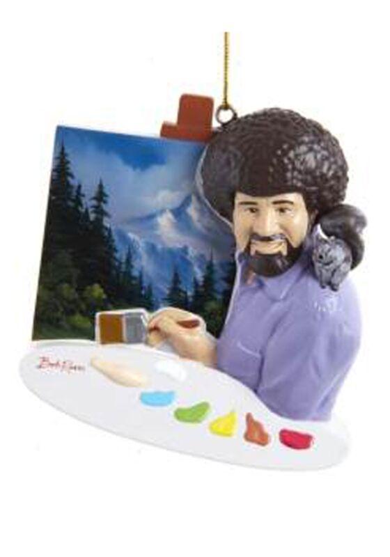 Bob Ross Painting Ornament