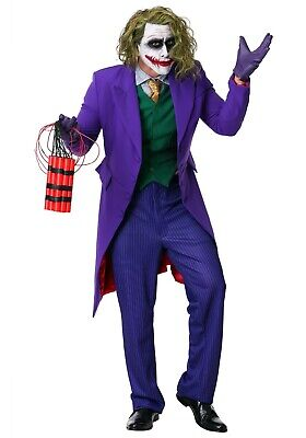 MEN'S THE JOKER GRAND HERITAGE  BATMAN COSTUME USED SIZE LARGE (with defect)