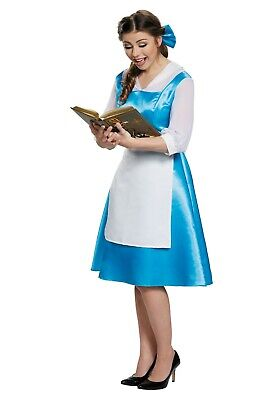 Adult Belle Costume Blue (ADULT BELLE BEAUTY AND THE BEAST BLUE COSTUME DRESS SIZE LARGE 12-14)