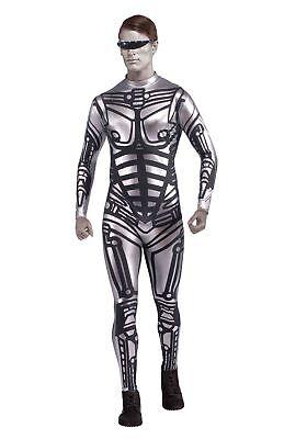 Mens Robot Jumpsuit Costume - Robot Costume Adult