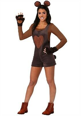 WOMEN'S CUDDLY BEAR ROMPER COSTUME SIZE SMALL - Bear Costume Women