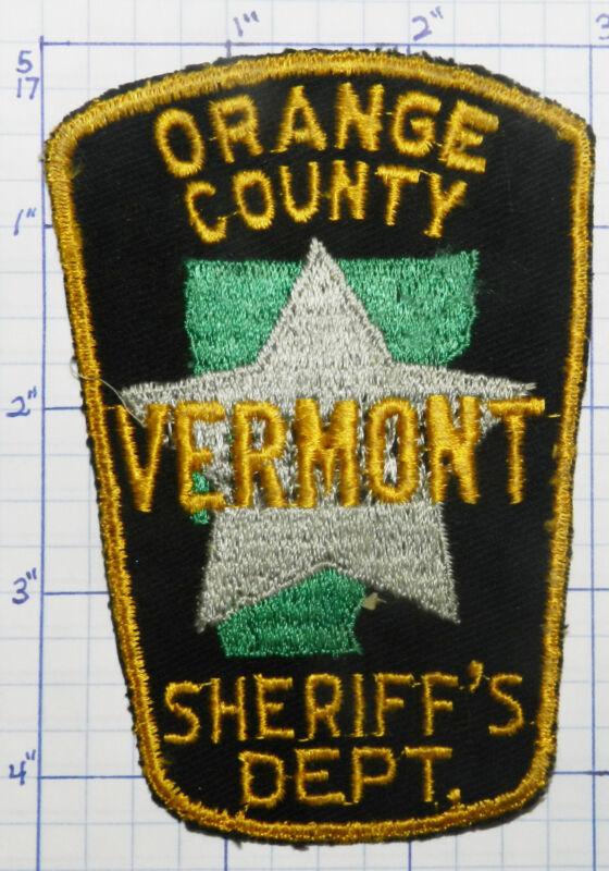 VERMONT, ORANGE COUNTY SHERIFF