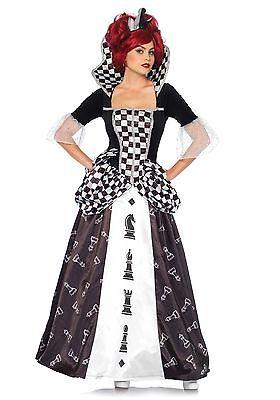 IAL Leg Avenue 85572 Sexy Damen Kostüm Königin - Schwarz Schach Königin Kostüm