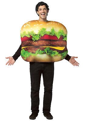 Cheeseburger - Hamburger Adult Rasta Imposta - Cheeseburger Costumes