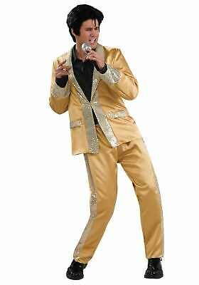 Deluxe Gold Satin Elvis Costume - Gold Elvis Costume