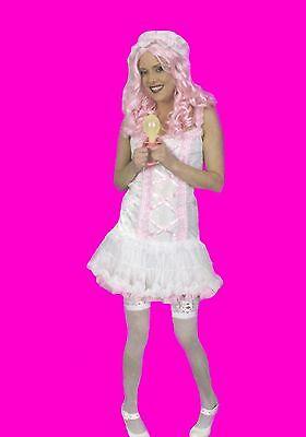 Damen Kostüm BABY Kleid Schlafhaube Babydoll Babykostüm - Doll Kleid Kostüm