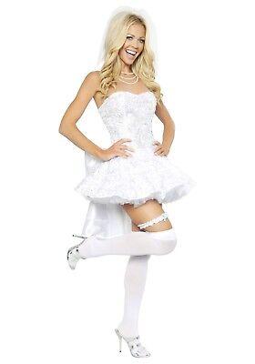 WOMEN'S SEXY FANTASY BRIDE COSTUME SIZE SMALL (with - Fantasy Bride Sexy Kostüm