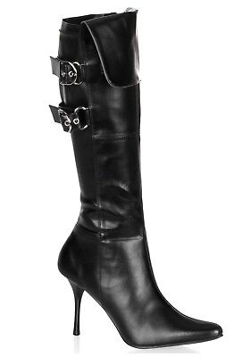 USED WOMEN'S SEXY PIRATE AGENT SPY COSTUME BOOTS SIZE 8 (with defect) - Spy Costumes