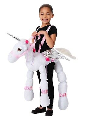 KIDS RIDE A UNICORN COSTUME USED SIZE - Riding Unicorn Costume
