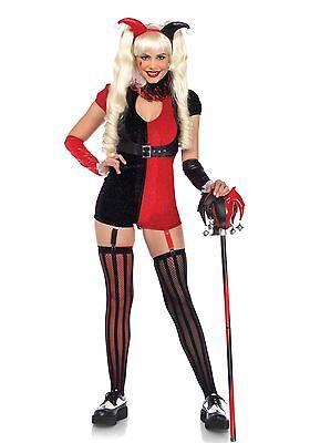 LAG Leg Avenue 85585 Sexy Damen Kostüm Narr Hofnarr Harlekin Mischief Maker XS-M (Damen Hofnarr Kostüm Kostüm)