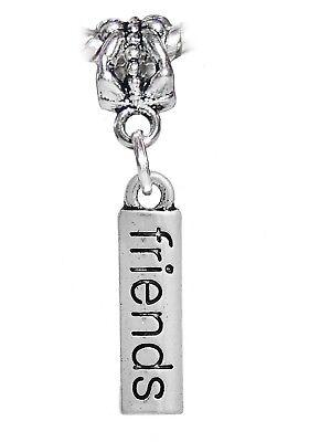 Friends Word BFF Best Friend Bestie Gift Dangle Charm for European Bead