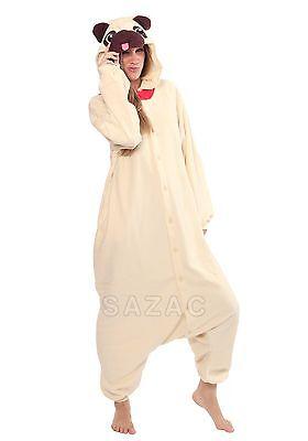 Adult Dog Costumes (SAZAC Pug Dog Kigurumi - Adult Costume from)