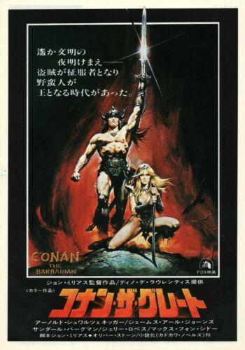 Conan The Barbarian 1982 B Schwartzenegger Japanese Chirashi Movie Flyer B5