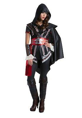 WOMEN'S ASSASSIN'S CREED MASTER EZIO AUDITORE COSTUME SIZE M 10-12 (with defect) - Ezio Black Costume