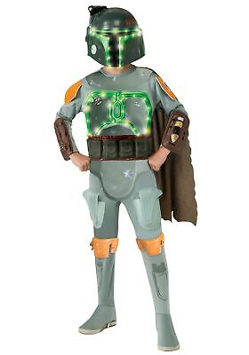 Boba Fett Deluxe Child Costume (Child Deluxe Light Up Boba Fett)
