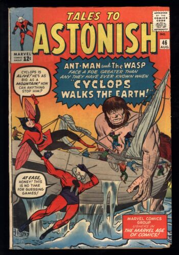 Tales To Astonish (1959) #46 1st Print 3rd App The Wasp Kirby Heck Ditko GD/VG