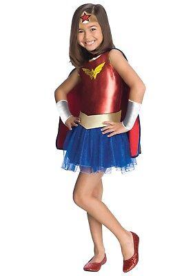 KIDS WONDER WOMAN TUTU COSTUME SIZE SMALL 4-6 (with defect) - Wonder Woman With Tutu