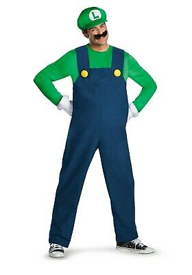 MEN'S DELUXE LUIGI COSTUME USED SIZE - Luigi Costume Men