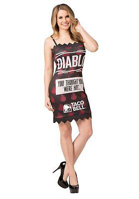 Taco Bell Womens Diablo Taco Bell Sauce Packet - Taco Sauce Kostüm