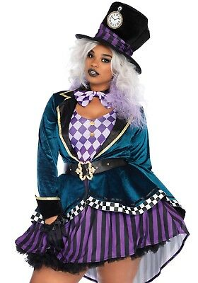 LAG Leg Avenue 85592X Sexy Damen Kostüm Hutmacher Delightful Mad Hatter Alice (Mad Hatter Alice Kostüm)