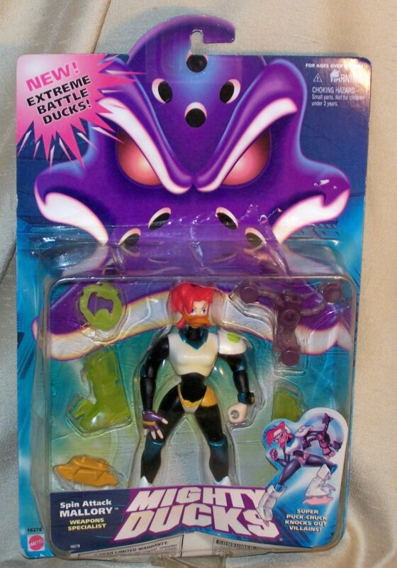 Mighty Ducks ~ Action Figure ~ Spin Attack Mallory ~ Weapons Specialist ~ New