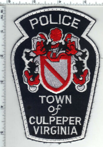 Town of Culpepper Police (Virginia) Uniform Take-Off Shoulder Patch from 1980
