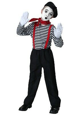 Boys Mime Costume (CHILD MIME COSTUME SIZE SMALL 6 (with)