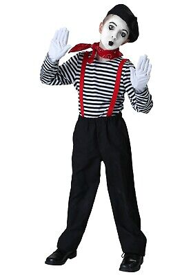 CHILD MIME COSTUME SIZE SMALL 6 (with - Boys Mime Costume