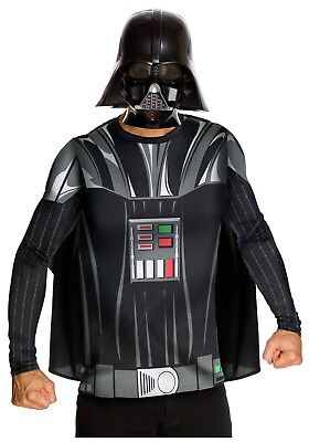DARTH VADER TOP AND MASK ADULT COSTUME SIZE XL (w/defect)