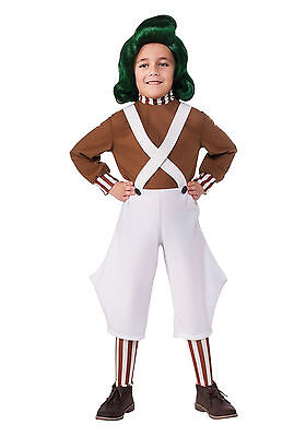 Willy Wonka   Oompa Loompa Child Costume