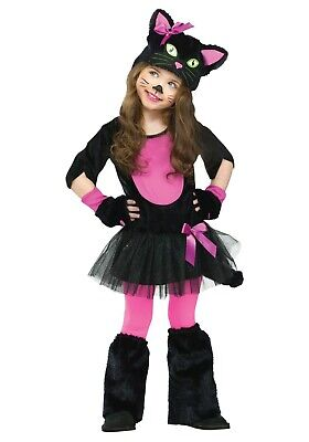 Black Cat Toddler Costume (TODDLER GIRLS MISS KITTY BLACK CAT COSTUME SIZE 18-24 months (with)