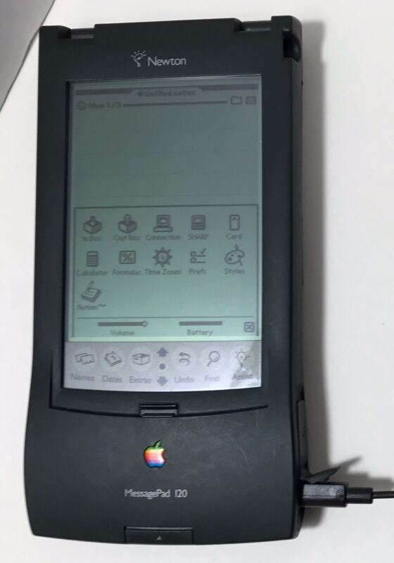 Apple Newton MessagePad120 Personal Digital Assistant Touchscreen Tablet WORKING