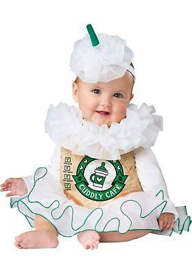 Incharacter Gemütlicher Cappuccino Kaffee Süß Kleinkinder Baby Halloween - Baby Kaffee Kostüm