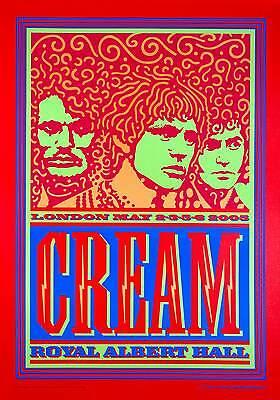 Cream 2005 Reunion Poster Royal Albert Hall Artist Edition John Van Hamersveld