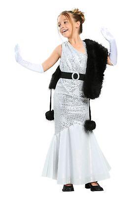 Girls Silver Movie Star Costume - Movie Star Costume For Girls