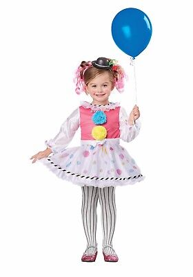 CIRCUS POLKA DOT CUTSIE CLOWN CHILD HALLOWEEN COSTUME TODDLER GIRL'S LARGE 4-6 - Toddler Girl Clown Halloween Costumes