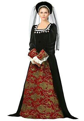 WOMEN'S VICTORIAN QUEEN OF ENGLAND ANNE BOLEYN COSTUME SIZE M (with defect) - Anne Boleyn Costume