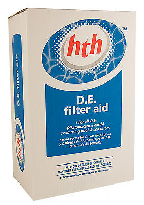 - hth® Swimming Pool Diatomaceous Earth DE Powder Diatomite Filter Media 10 lbs