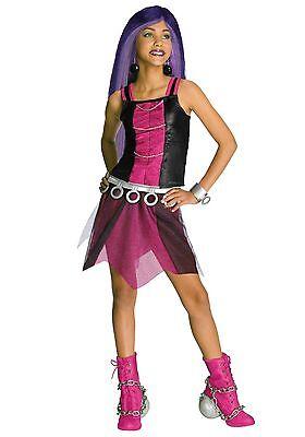 Girls Spectra Vondergeist Costume Monster High Halloween Fancy Dress Kids Child - Spectra Vondergeist Costume